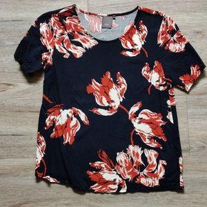 ICHI | Floral t-shirt blouse
